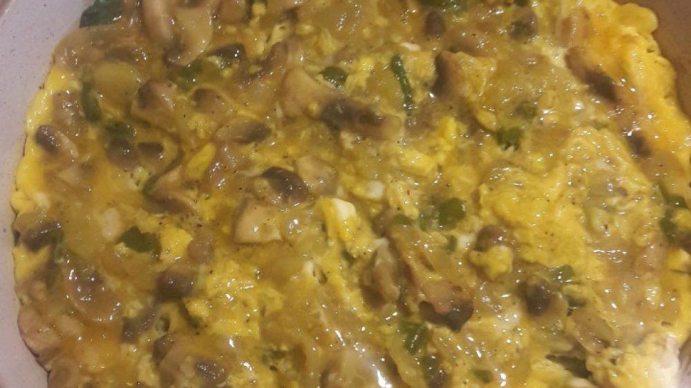 Diyet Yemekleri-Mantarlı Kabaklı Omlet